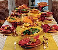 Thanksgiving Dinner Table With Food