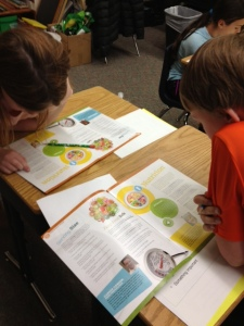 Students reading Ag Today - Issue 2