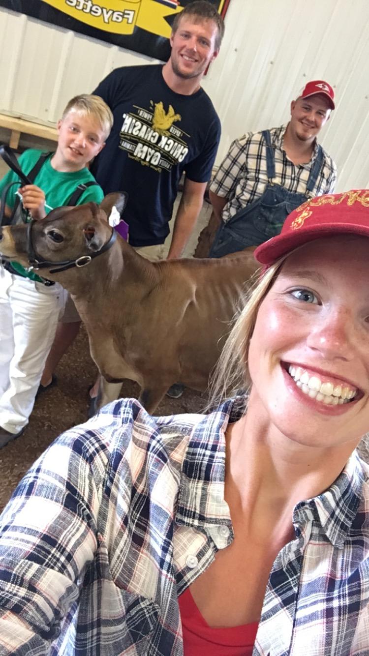 Selfie hunter brad hannah harry cow